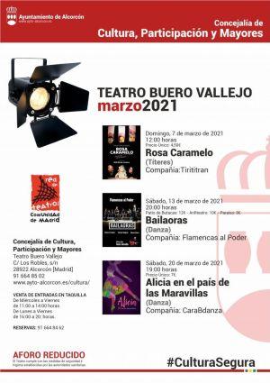 Cartel con las actividades que se realizarán próximamente en Alcorcón
