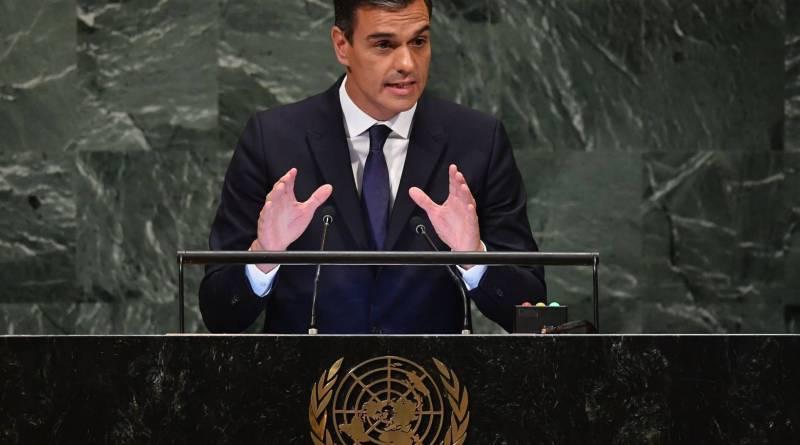 United Nations Spanish Prime Minister Pedro Sánchez