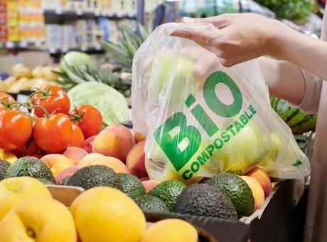 Lidl's new biodegradable bag for fruit & veg