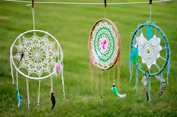 Hacer Atrapasueños Tejido al Crochet