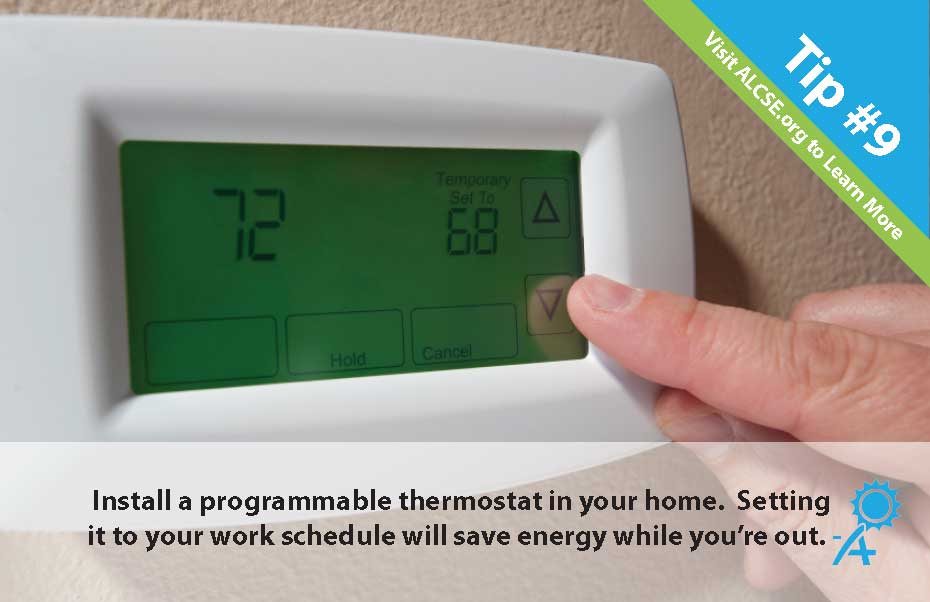 Energy Saving Hacks - use a programmable thermostat