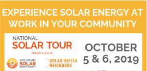 National Solar Tour Oct. 5 & 6