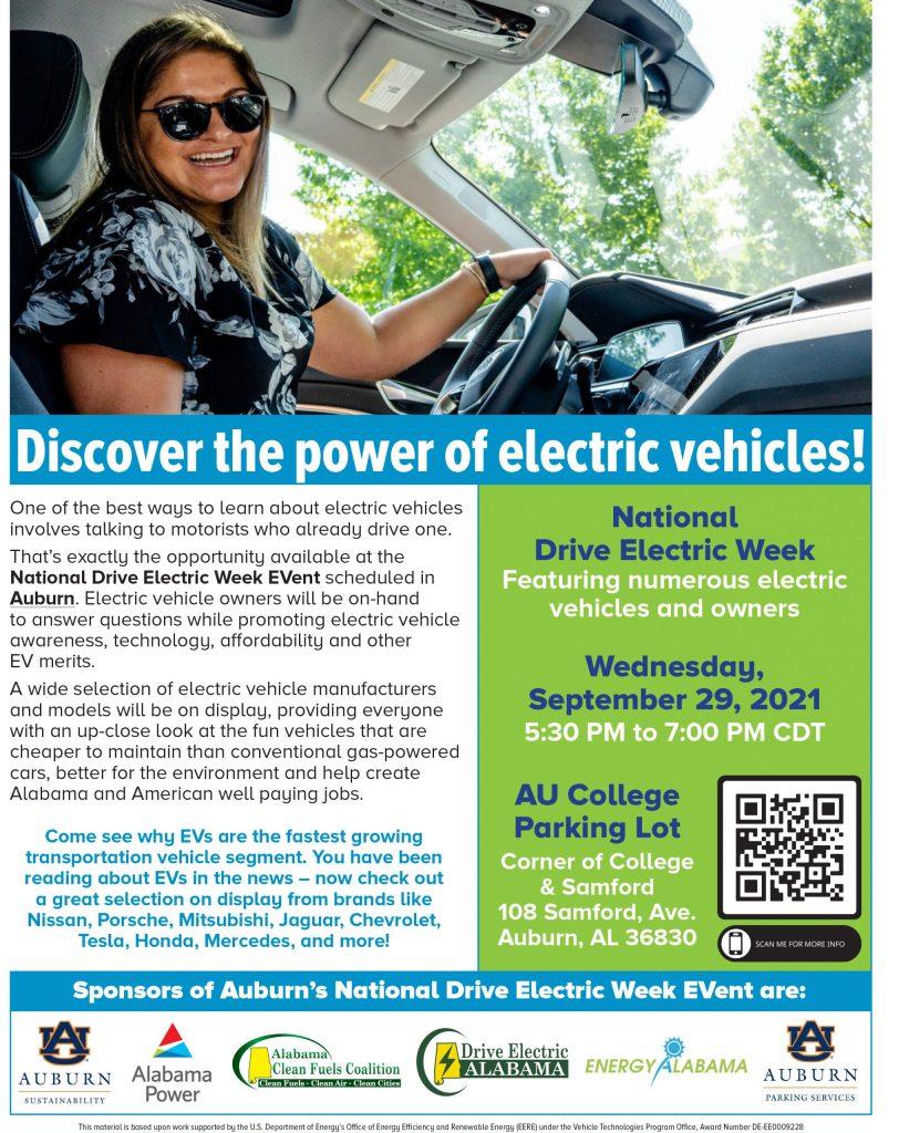 National Drive Electric Week Event - Auburn Alabama
