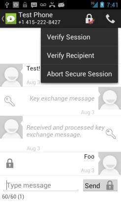 Exemple d'échange de clé.