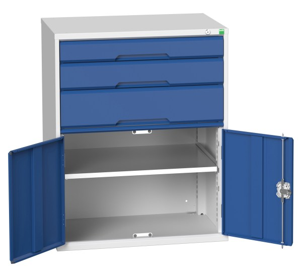 Verso 3 Drawer and Cupboard