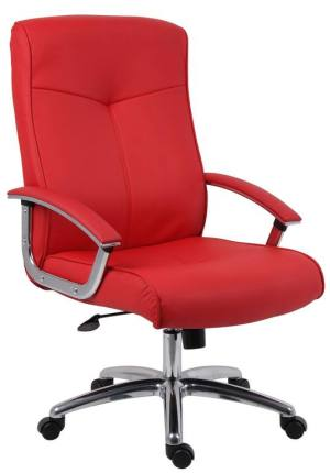Red leather faced Executive Office Chair