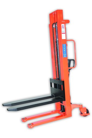 Manual Adjustable Forks Stacker