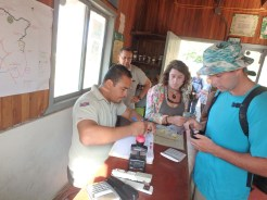 Checking into the National Park: pay up $15 each