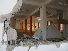 The Community Center was left in ruins