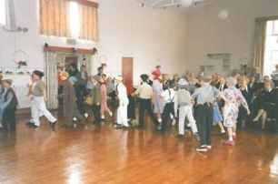 1994 - 50 years since D Day. The Lambeth Walk in the main hall.