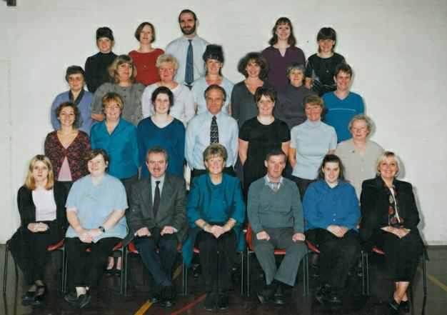 School staff 1994 - Headteacher Mrs R. Redpath.