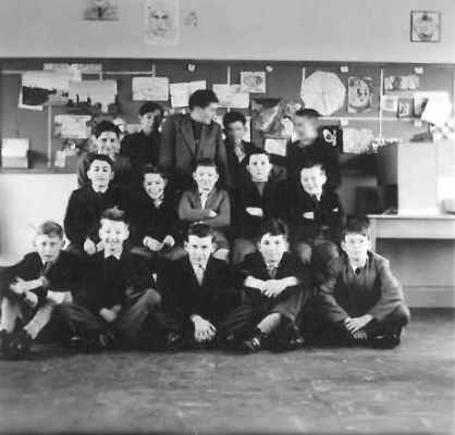 Class and teacher in art room - date unknown.