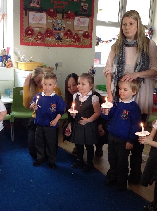 Our Christingle celebration.