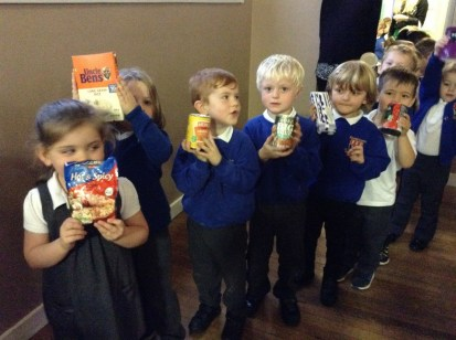 Bringing our donations for the Hull Foodbank.