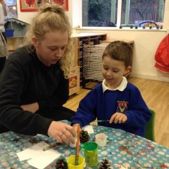 Christmas activities in the Nursery