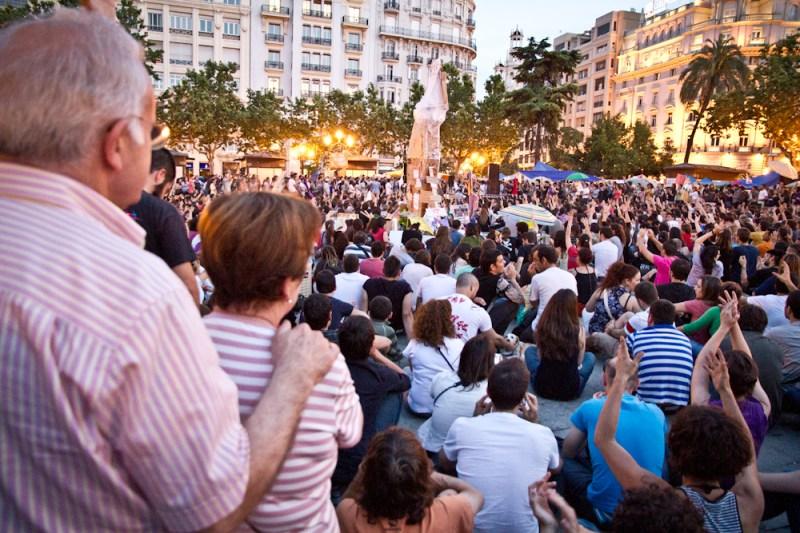Fotografías del Movimiento 15M en Valencia, Asamblea popular del día 22 de mayo de 2011