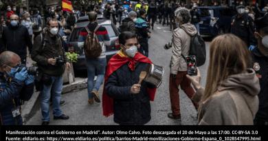 """Manifestación contra el Gobierno en Madrid"""". Autor: Olmo Calvo."""