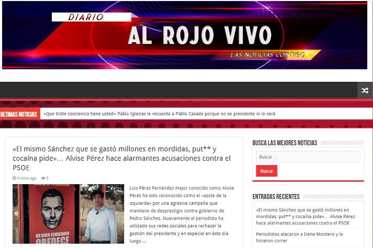 Portada de la web Alrojovivo.online. Captura de pantalla realizada realizada el 21/07/2020 a las 17:36. Fuente: alrojovivo.online