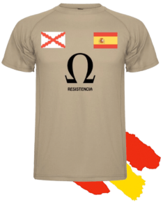Diseño de la camiseta oficial de Resiste España