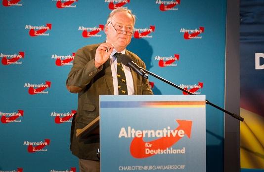 Mitin de Alternativa para Alemania (AfD) en Charlottenburg Wilmersdorf