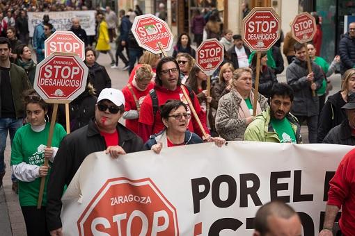 Manifestación durante las Marchas de la Dignidad en Zaragoza en 2018. Autor: AraInfo. Fuente: Flickr. (CC BY-SA 2.0.)