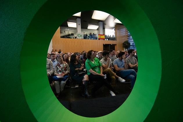 Acto de vota a Vox en 2018 en Castellón La España por Venir. Autor: Vox España, 26/04/2018. Fuente: Flickr.