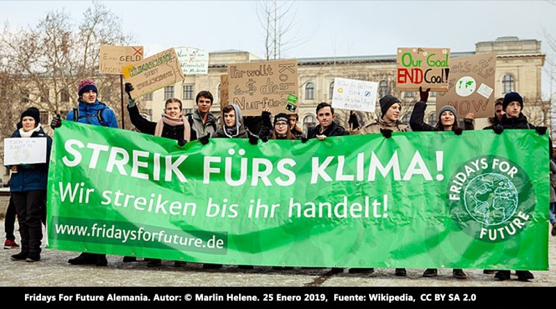 Fridays For Future Alemania. Autor: © Marlin Helene, 25/01/2019. Fuente: Wikimedia Commons (CC BY SA 2.0.)