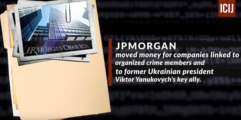 JP Morgan, una de las entidades financieras implicadas en los FinCEN Files. Autor: Captura de pantalla realizada el 21/09/2020 a las 7:35h. Fuente: ICIJ.