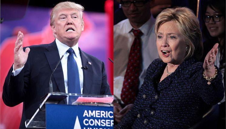 Donald Trump y Hillary Clinton durante la campaña presidencial de Estados Unidos en 2016. Autor: Obra derivada porKrassotkinpara Wikimedia Commons, 02/03/2016. Obras originales deGage Skidmore. Fuente:Wikipedia