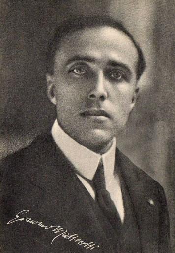 Giacomo Matteotti, líder del Partido Socialista Unitario antes de 1924