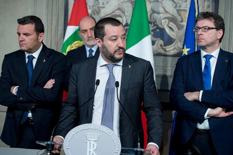 Mateo Salvini, líder de La Liga, en 2018. Autor: Presidenza della Repubblica,05/04/2018. Fuente: http://www.quirinale.it/elementi/Continua.aspx?tipo=Foto&key=18357