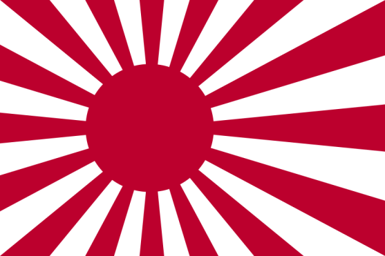 Insignia naval de la Armada Imperial Japonesa y Fuerzas de Autodefensa de Japón, generalmente relacionadas con la extrema derecha japonesa. Autor: David Newton, 21/05/2006. Fuente: Wikimedia (CC BY-SA 3.0).
