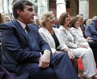 La alcaldesa, Manuela Carmena, en los actos del Dos de Mayo, 2017. Autor: Diario de Madrid, 02/05/2017. Fuente: Diario de Madrid. (CC BY 4.0)