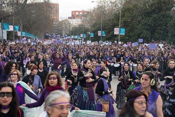 Manifestación en Madrid por el día de la mujer trabajadora. Autor: Nemo, 08/03/2020. Fuente: Wikimedia Commons (CC-BY-SA 4.0)