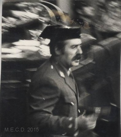 Antonio Tejero, teniente coronel de la Guardia Civil durante el 23F(archivo). Agencia EFE, 1981 Fuente: Biblioteca Virtual de Patrimo Bibliográfico (CC BY 4.0.)