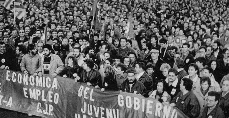 Huelga general en España. Autor: El País, 14/12/1988. Fuente: El País (CC BY-SA 4.0.)