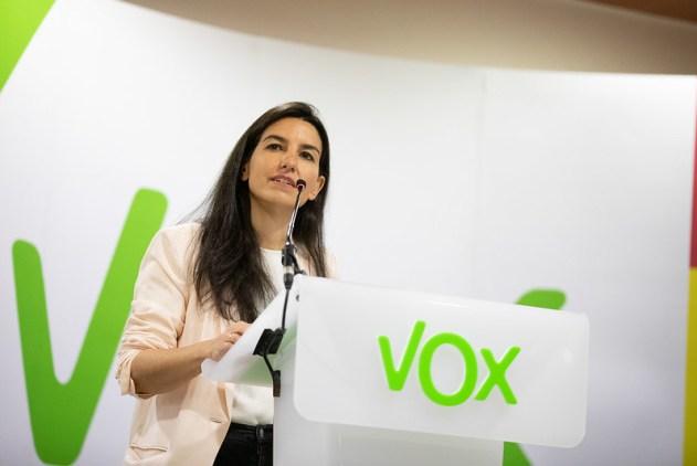 declaraciones Por Madrid y para España con Rocio Monasterio. Autor: Vox España, 18/02/2019. Fuente: Flickr