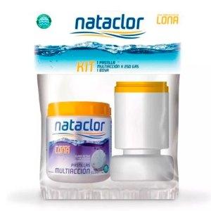 Kit multiacción y boya Nataclor para piletas de lona x 250Grs.
