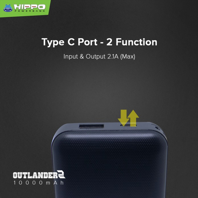HIPPO Outlander2 Powerbank  Type C Port