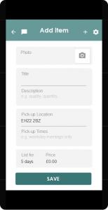Add a new item activity