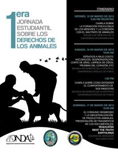 Primera Jornada Estudiantil sobre los Derechos de los Animales