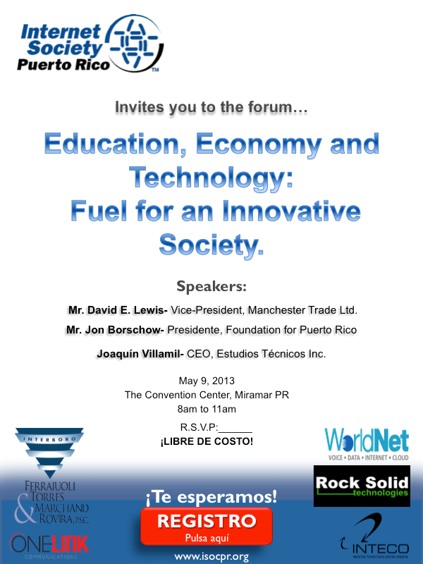Education, Economy and Technology: Fuel for an Innovative Society