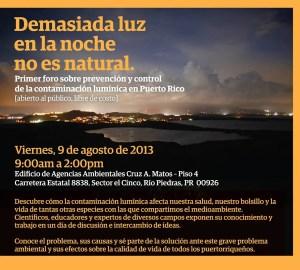 Primer foro sobre prevención y control de la contaminación lumínica en Puerto Rico