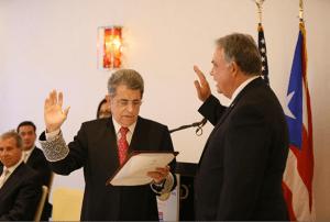 El Juez Presidente del Tribunal Supremo de Puerto Rico, Hon. Federico Hernández Denton, tomó juramento a la Junta de Directores 2013-2014 de la Cámara de Comercio de Puerto Rico.