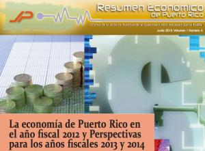 Junta de Planificación publica Resumen Económico de Puerto Rico (junio 2013)