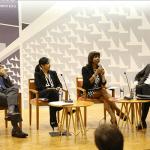 El primer panel estuvo compuesto por el licenciado Ariel Caro Pérez, la licenciada Cristina Beauchamp Richards, la licenciada Vivian I. Neptune Rivera, Decana de la Escuela de Derecho de la UPR, y por el licenciado Carlos Dalmau Ramírez.