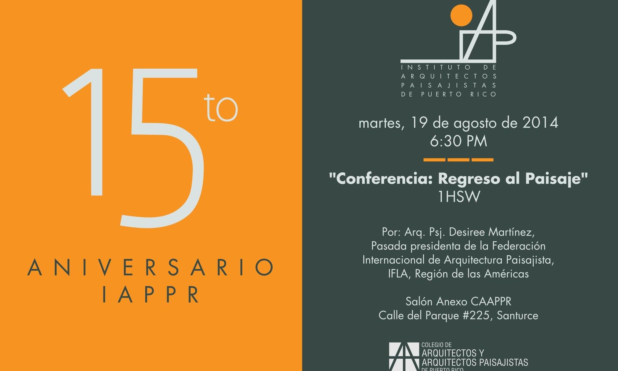 Instituto de Arquitectos Paisajistas de Puerto Rico cumple 15 años