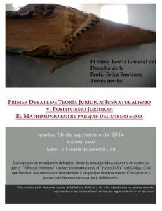 Iusnaturalismo v. positivismo jurídico: el matrimonio entre parejas del mismo sexo