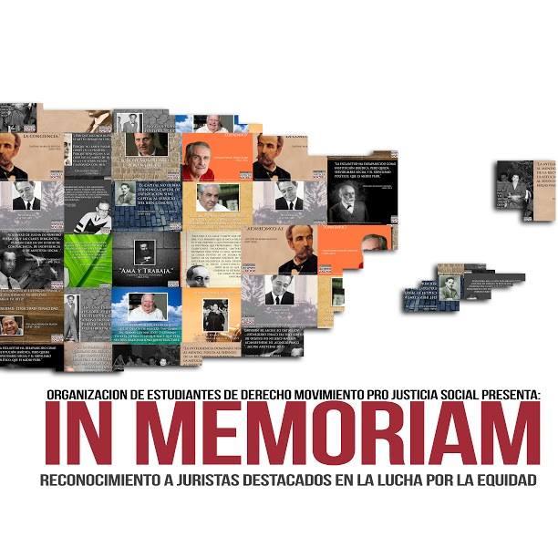 Exhibición de afiches «In Memoriam» en la Inter Derecho