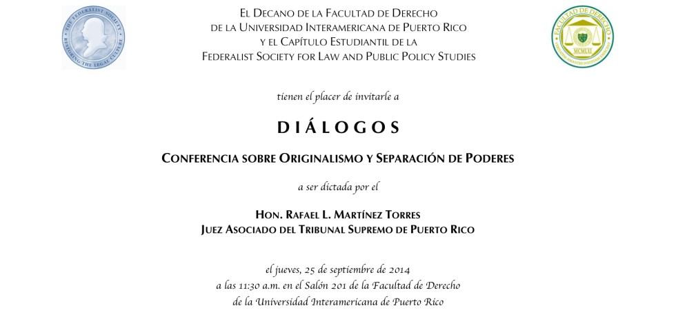Conferencia magistral: originalismo y separación de poderes